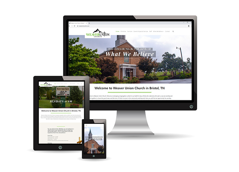 weaver union church web design